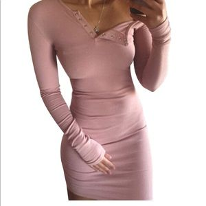 Barbie doll Pink stretch fitted bodycon dress sexy